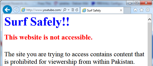 surf safely youtube ban message